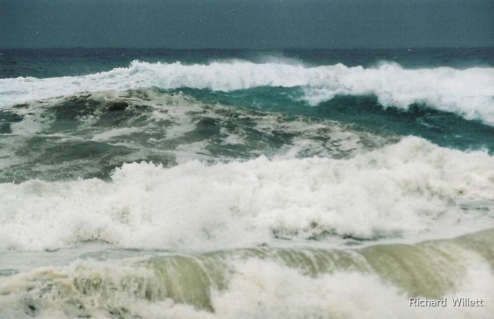 Ocean Waves by Richard  Willett