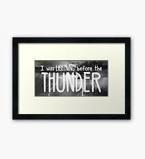 Thunder - Imagine Dragons lyrics Framed Print