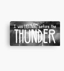 Thunder - Imagine Dragons lyrics Canvas Print