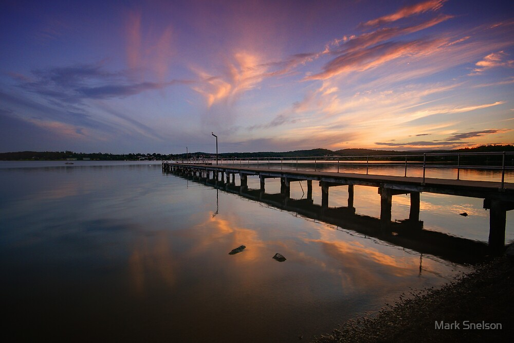 Speers Point Jetty at Dusk by Mark Snelson