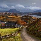 Arkle and Ben Stack. Loch Inchard. Autumn Light. Northern Scotland. by PhotosEcosse