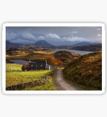 Arkle and Ben Stack. Loch Inchard. Autumn Light. Northern Scotland. Sticker