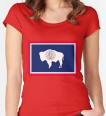 Flag of Wyoming Women's Fitted Scoop T-Shirt