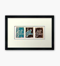 Blue Amphibian Framed Print