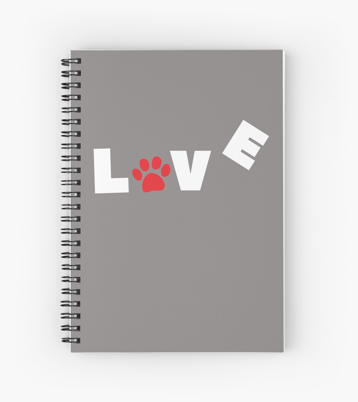 'I love my dog T-Shirt & more' Spiral Notebook by OURFAMILYWORLD
