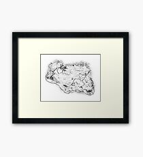 Skyrim Map Framed Print
