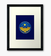 Terraforming project patch mission Framed Print