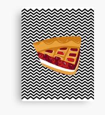 Twin Peaks Black Lodge Pie Canvas Print