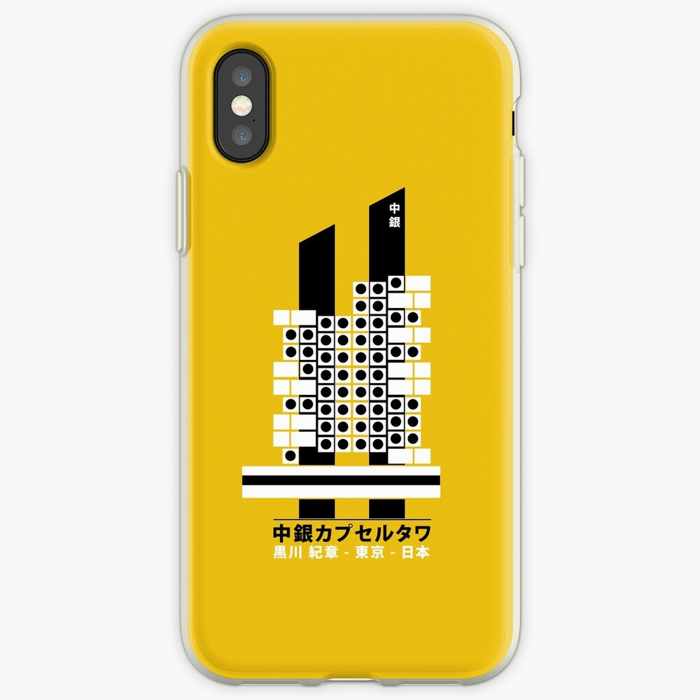Capsule Tower Nagakin Kurokawa Architecture Tshirt | iPhone Case & Cover