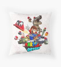Super Mario Odyssey Throw Pillow