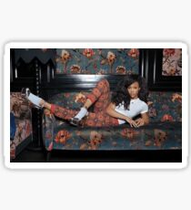 sza floral couch Sticker