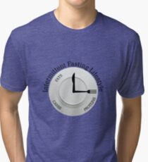 INTERMITTENT FASTING LIFESTYLE Tri-blend T-Shirt