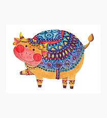 The Smile Cow Photographic Print