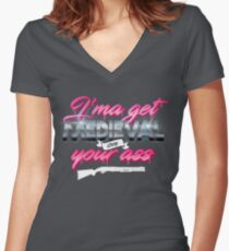 Medieval Women's Fitted V-Neck T-Shirt