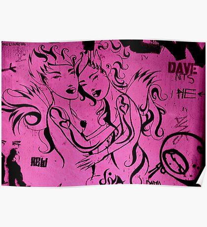 Barcalona street art Poster