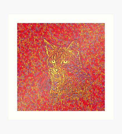 Goldenrod Crimson Art Print