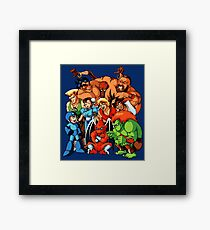 Early 1990s Capcom Character Lineup Framed Print