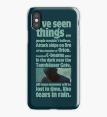like tears in rain - blade runner quote  iPhone Case