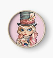 Mad Hatter Alice Clock