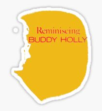 Reminiscing Buddy Holly Sticker