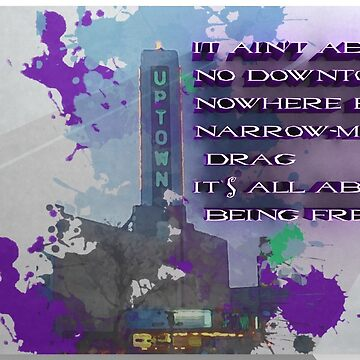 It ain't bout no Downtown Nowhere Bound Narrow Minded Drag by foggynotion
