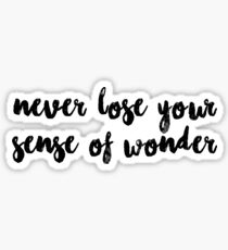NEVER LOSE YOUR SENSE OF WONDER Sticker