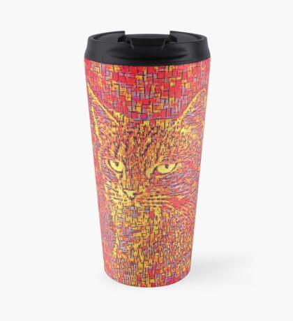 Goldenrod Crimson Travel Mug