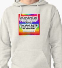 Love Your Neighbor As Your Self -Leviticus, Rainbo Pullover Hoodie