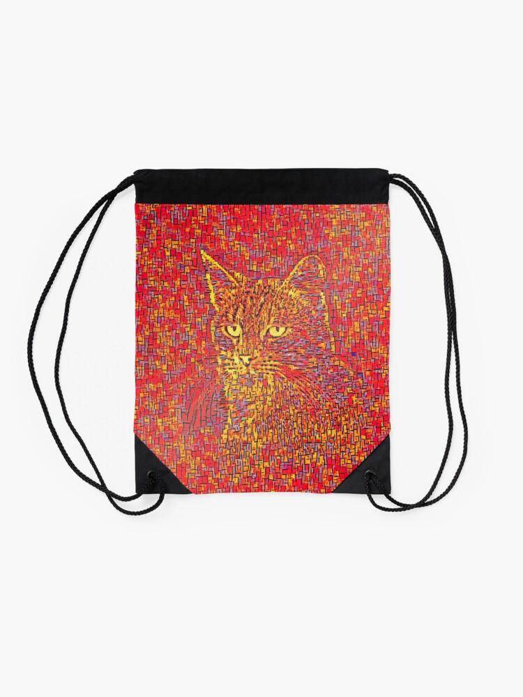 Alternate view of Goldenrod Crimson Drawstring Bag