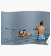 Dead Sea Bathing Israel Poster