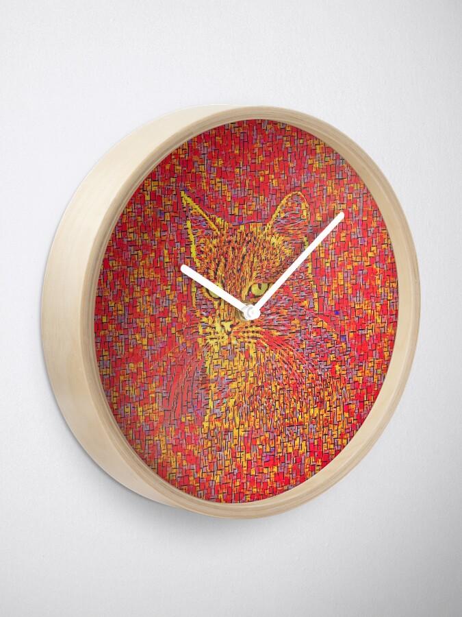 Alternate view of Goldenrod Crimson Clock