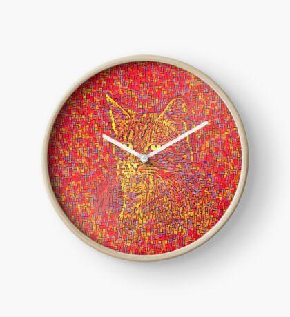 Goldenrod Crimson Clock