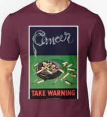 Vintage Smoking Causes Cancer Health Unisex T-Shirt
