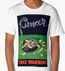 Vintage Smoking Causes Cancer Health Long T-Shirt