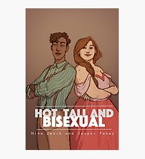 Hot, tall and bi Photographic Print