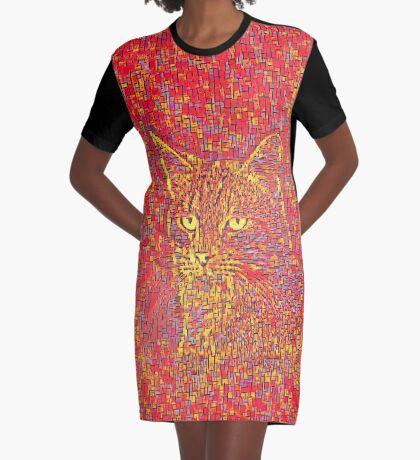 Goldenrod Crimson Graphic T-Shirt Dress