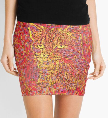 Goldenrod Crimson Mini Skirt
