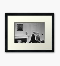 LBJ Giving The Treatment  Framed Print