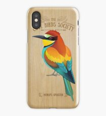 Merops apiaster on wood iPhone Case/Skin