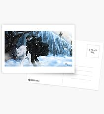 Jon Snow and Ghost Postcards