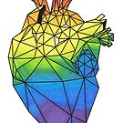 Geometric Rainbow Anatomical Heart by LPDesignsAndArt
