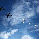 101st Airborne practice jump - Holland, WWII by Marina Amaral