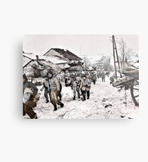 Recon Soldiers in the Snow Metal Print