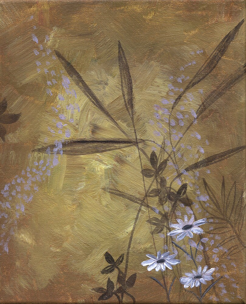Daisies and Field Grasses by Nathalie Van