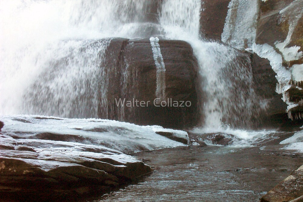 Frozen Base of Falls by Walter Collazo