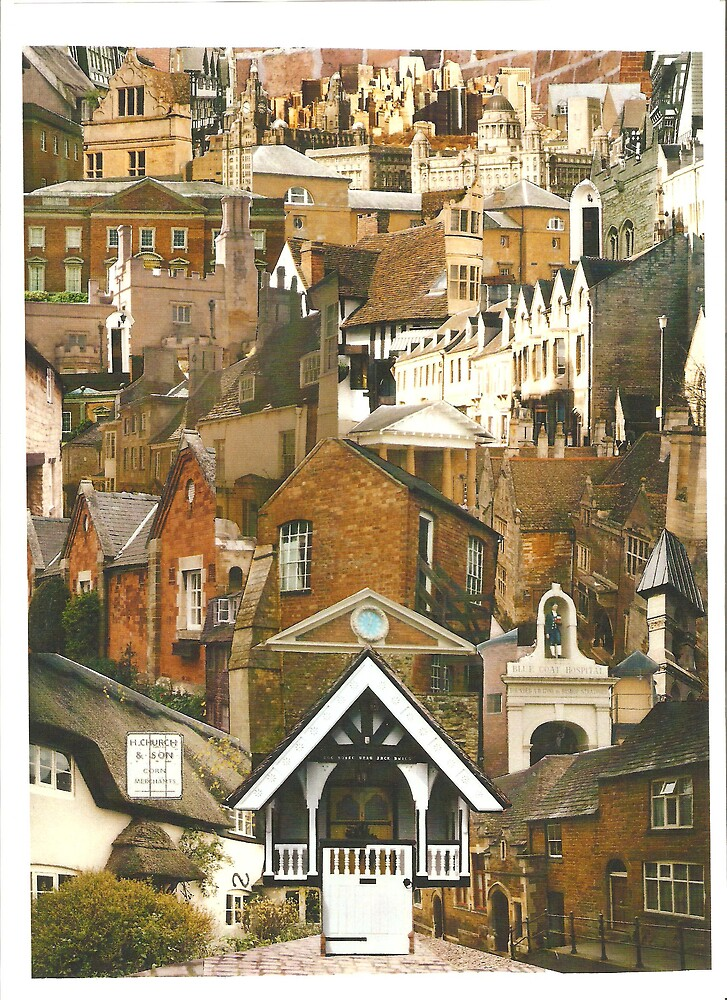 rooftops photomontage by yorkyanne