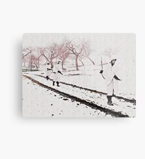Walking Down Bastogne Road Metal Print
