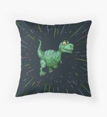 Dino de la galaxy Throw Pillow