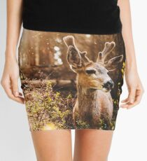 a deer in the yosemite national park Mini Skirt