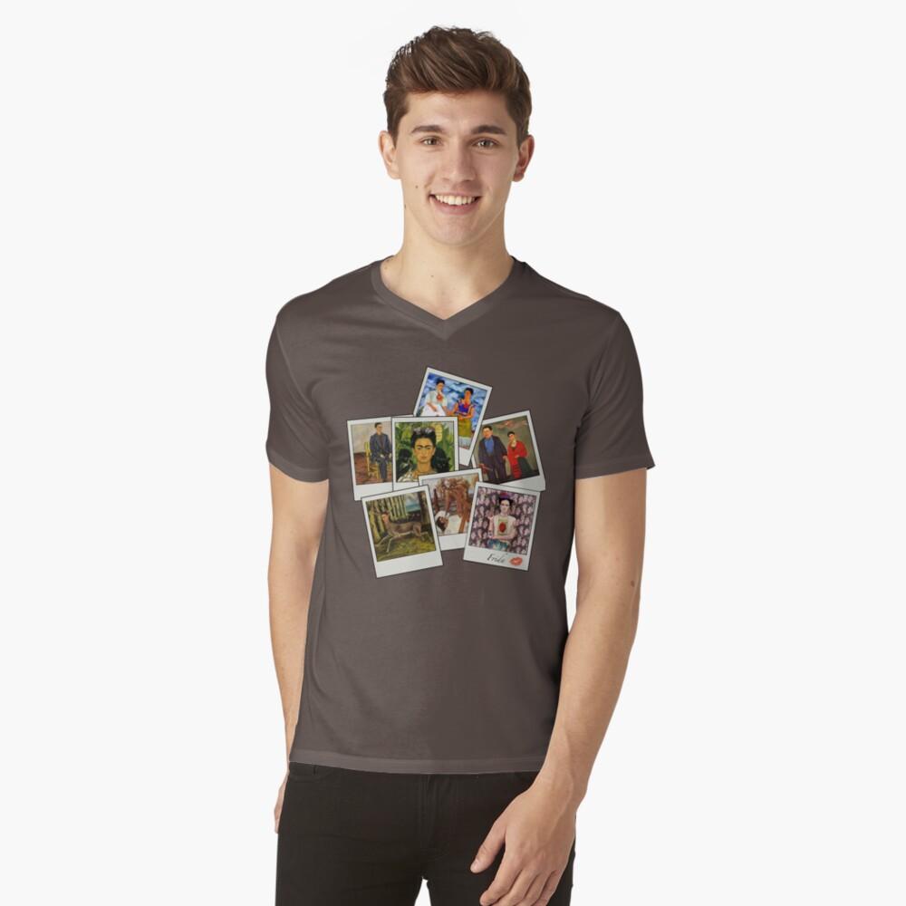 Polaroid Kahlo Mens V-Neck T-Shirt Front